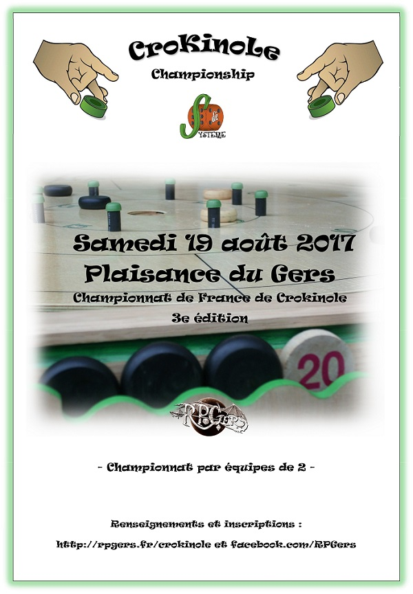 Troisième Championnat de France de Crokinole à Plaisance du Gers