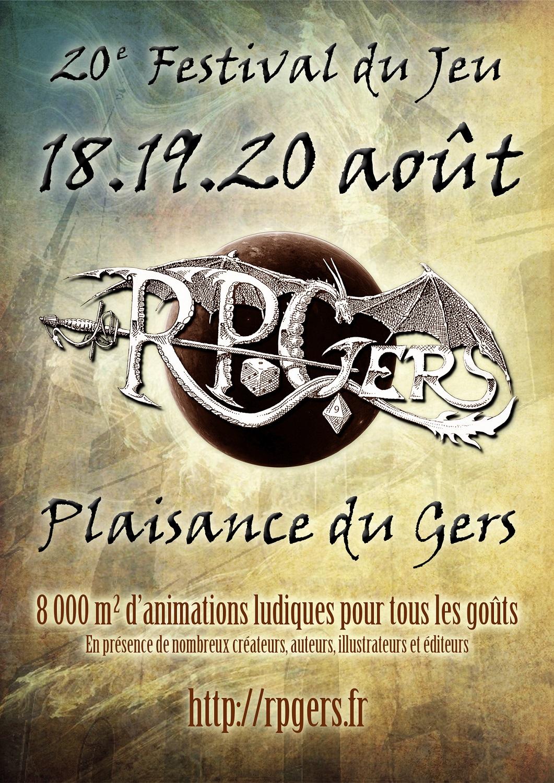 Affiche Festival du Jeu - RPGers 2017