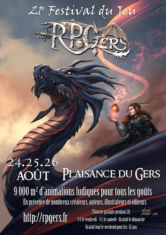 Affiche Festival du Jeu - RPGers 2018