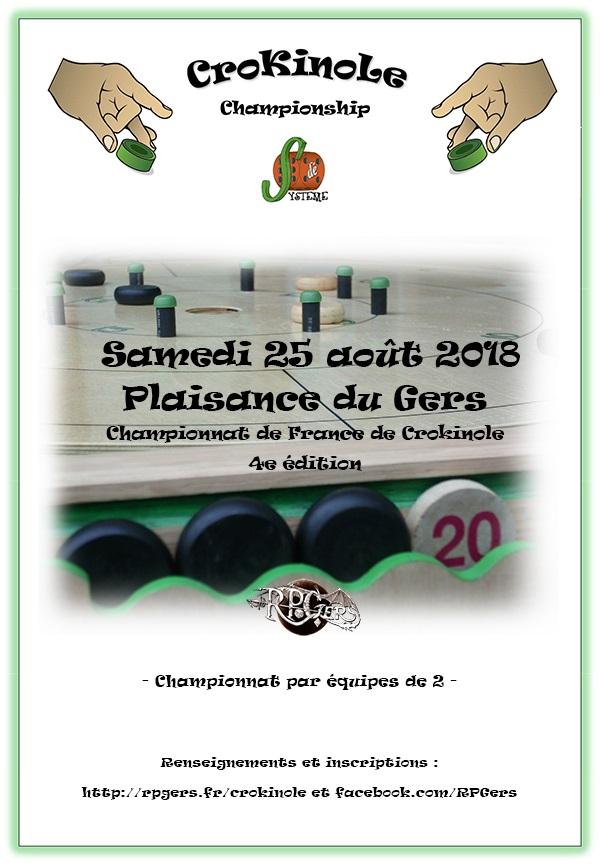 Quatrième Championnat de France de Crokinole à Plaisance du Gers