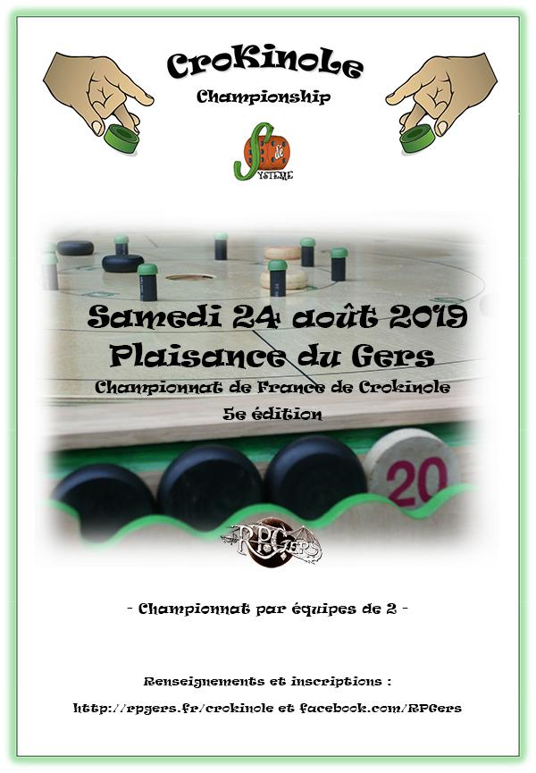 Cinquième Championnat de France de Crokinole à Plaisance du Gers